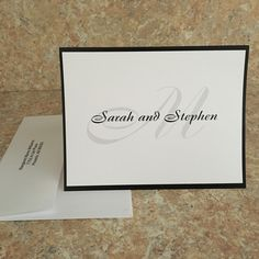 Perfect for all those wedding thank you notes that have to be written. Choose from 21 fonts. Custom Stationery, Personalized Stationery, Elegant Couple, Personalized Note Cards, Thank You Notes, Wedding Thank You, Teacher Gifts, Enchanted, New Baby Products