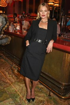 The model attended the Sexy Fish Restaurant launch party in London.