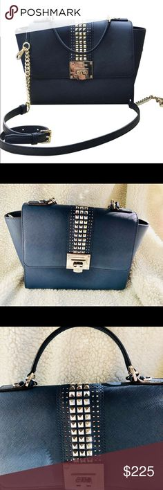 NWT Studded Tina Large Saffiano Lather Satchel New 2017 winter collection  Brand new with tag Double leather handles Studded gold Michael Kors signature interior lining  Interior zip pocket  2 open pockets  Zip top clouser Michael Kors Accessories