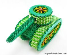 Modular Origami Tank #1 by origamimodulowe on DeviantArt