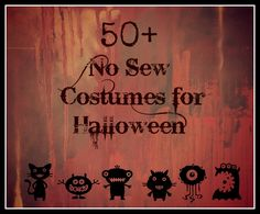 50+ No Sew Costumes for Halloween, plus all of this year's newest costumes through open costume parade link-up run on multiple blogs! (No Twiddle Twaddle)