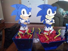 Centerpiece Sonic Birthday Parties, Sonic Party, Masquerade, Sonic The Hedgehog, Centerpieces, Projects To Try, Party Ideas, Activities, Kids