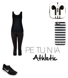 """Petunia Athletic"" by lunalynch13 on Polyvore featuring NIKE, City Chic, PhunkeeTree and Kate Spade"