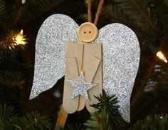 bricolage-Noël-ange-ornement-sapin-bâtonnets-bois-plats-carton