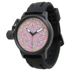 Techno Colors Pattern   Vintage Mens Watch - accessories accessory gift idea stylish unique custom