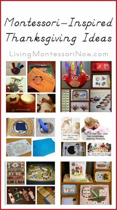 Lots and lots of Montessori-inspired Thanksgiving activities and ideas for Thanksgiving grace and courtesy