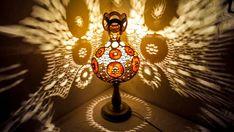 Graduation, wedding Gift Gourd lamps Ottoman decor Turkish floor lamp arabic oriental Rustik boho M Turkish Lamps, Moroccan Lamp, Turkish Art, Ottoman Decor, Ottoman Design, Wood Burning Techniques, Marble Lamp, White Light Bulbs, Gourd Lamp
