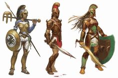 costume concept designs for Magic - The Gathering by Steve Prescott