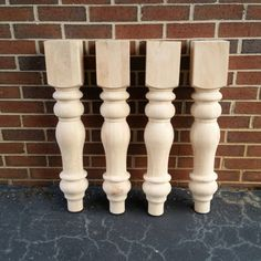 Turned Farmhouse Dining Table Legs- Extra Large!
