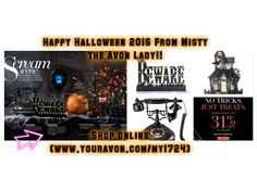 Happy #Halloween from your Favorite Avon Lady!! #Shop #online @(www.youravon.com/my1724) or click on the pin for all you #Halloween Décor at Avon.. Don't forget to enter in my end of the month #raffle lots #free #goodies!!