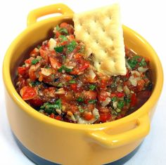 Inspired By eRecipeCards: Roasted Garlic Tomato Salsa - Grilling Time Condiment
