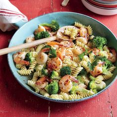 Shrimp and Broccoli Rotini | CookingLight.com #myplate #protein #veggies