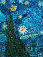 Made of jelly beans. (By Kristen Cumings) *pretty rad* Jelly Belly Beans, Jelly Beans, Art Plastique, Looks Cool, Vincent Van Gogh, Mosaic Art, Art And Architecture, Art Lessons, Awesome Art