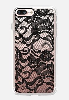 Casetify iPhone 7 Case and Other iPhone Covers - Black Lace by Sweet Water Decor, LLC Iphone 7 Cases Black, Cool Phone Cases, Iphone 7 Plus Cases, Iphone 8, Walpaper Black, Diy For Girls, Tech Accessories, Casetify, Lace