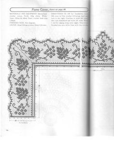 Home Decor Crochet Patterns Part 58 - Beautiful Crochet Patterns and Knitting Patterns Crochet Lace Edging, Crochet Borders, Crochet Doilies, Hand Crochet, Filet Crochet Charts, Crochet Diagram, Crochet Stitches, Crochet Table Runner, Crochet Tablecloth