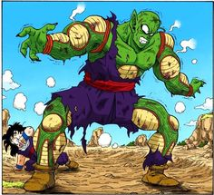 Piccolo saves Gohan
