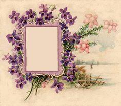 Vintage frames, Little flowers and Clip art