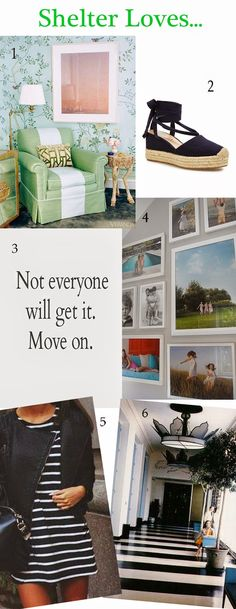 Love this simple look for your photos in the hall.