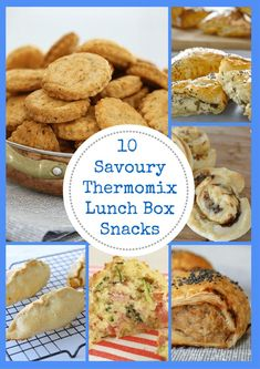 10 Savoury Thermomix Lunch Box Snacks Thermobliss The number of people ea. Lunch Box Recipes, Snack Recipes, Cooking Recipes, Lunch Ideas, Picnic Ideas, Recipes Dinner, Healthy Recipes, Eat Lunch, Lunch Snacks