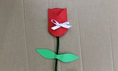 Make A Rosebud Card   Mother's Day   Valentine's Day   Paper Craft   Kids Activities