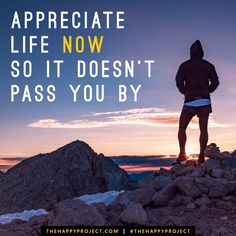 It's scary how fast time flies. Don't let life pass you by. Be grateful for each moment. Savor every bite. Appreciate life now.