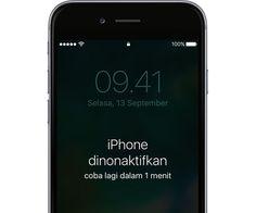 Cara Mengatasi iPhone Dinonaktifkan Karena Salah Kata Sandi