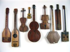 Nine antique folk art early American home made musical instruments Things Organized Neatly, Found Art, Folk Music, Indie Music, Sound Of Music, Displaying Collections, Music Stuff, The Incredibles, Antiques