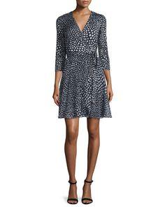 TBY05 Diane von Furstenberg Irina Silk Wrap Dress, Black