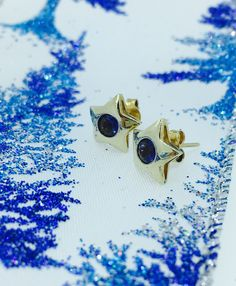 When you wish upon a star 💫                                 Beautiful 9ct gold star stud earrings each set with one round Iolite.                                                 What is on your Christmas wish list?         www.robinsmoore.co.uk