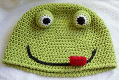 Crazy Frog Hat crochet pattern FREE with any Crochet by Darleen Hopkins pattern purchase