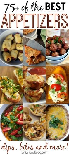 A list of the best appetizers and recipes to go along with them. Just in time for the super bowl!