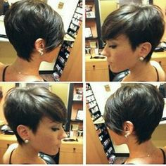 From bobs to pixie hair cuts, short hair styles on a foundation of fairly short choppy haircuts create sassy eye-catching incredibly low-main Pixie Hairstyles, Cool Hairstyles, Choppy Haircuts, Hairstyle Short, Medium Hairstyles, Hairstyles Haircuts, Haircut Short, Short Hair Cuts For Women, Short Hair Styles