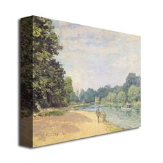 Alfred Sisley 'The Thames with Hampton Church' Canvas Art | Overstock.com Shopping - The Best Deals on Canvas