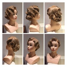 Updo 1930 - Prom Makeup Looks Wedding Hair And Makeup, Bridal Hair, Hair Makeup, Vintage Wedding Hair, Hair Wedding, Retro Hairstyles, Wedding Hairstyles, Ballroom Hair, 1920s Hair