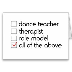 These original greeting cards for dancers are perfect for any occasion!