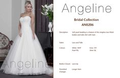 Bride dress Bridal by Anenia Ivory Pearl, Chiffon Skirt, Lace Closure, Fitted Bodice, Bridal Collection, Bridal Dresses, Tulle, Lace Up, Colours