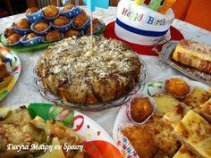 Ο πιο νόστιμος μπουφές για το παιδικό πάρτι! Easter Brunch, Pork, Food And Drink, Pizza, Menu, Bread, Chicken, Breakfast, Recipes