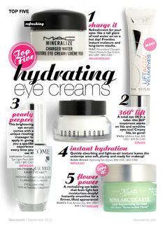 Top 5 Hydrating Eye Creams for Fall 2012 | Beautezine