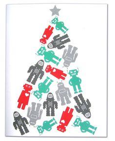Aimee Wilder, robot Christmas tree