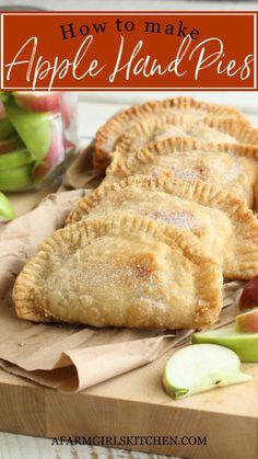 Pie Crust Recipes, Apple Pie Recipes, Pastry Recipes, Baking Recipes, Turnover Recipes, Blueberry Recipes, Sweets Recipes, Yummy Recipes, Cookie Recipes