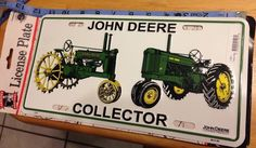 John Deere collector license plate new with tag size 6 x 12    eBay