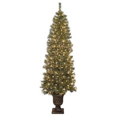 Jeco Pre-lit Artificial Christmas Tree with Urn Base