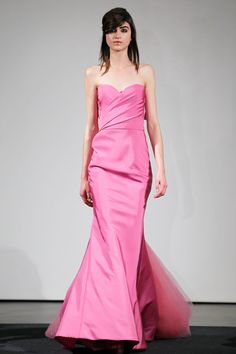 Vera Wang Pink Wedding Dress - but you can only wear a long white gown once.