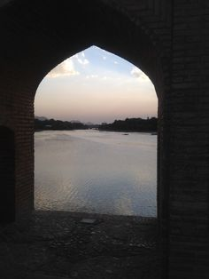 View at dusk from one of the bridges in Isfahan