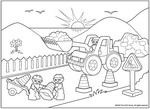 Coloring pages for the party favors or activity table #LegoDuploParty