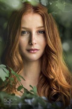 Mona by siegart - Red Hair Photo Contest Stunning Redhead, Beautiful Red Hair, Red Hair Woman, Woman Face, Hair Photography, Portrait Photography, Girl With Green Eyes, Blue Eyes, Photos Of Eyes