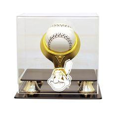 Cleveland Indians MLB Single Baseball Gold Ring Display