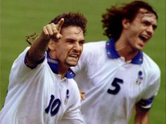Roberto Baggio e Maldini