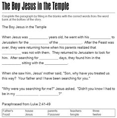 Image result for young jesus activity
