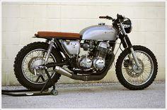 Vintage Racers: NegroHonda CB750 The Brat Steel Bent Customs via